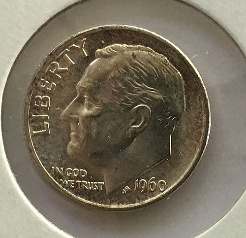 1960 P Roosevelt Dime BU