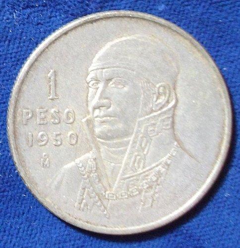 1950 Mexico Peso AU