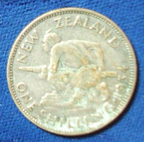 1934 New Zealand Shilling F+