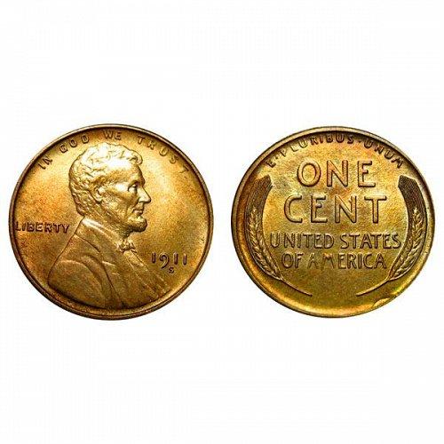 1911 S Lincoln Wheat Cent - Gem BU