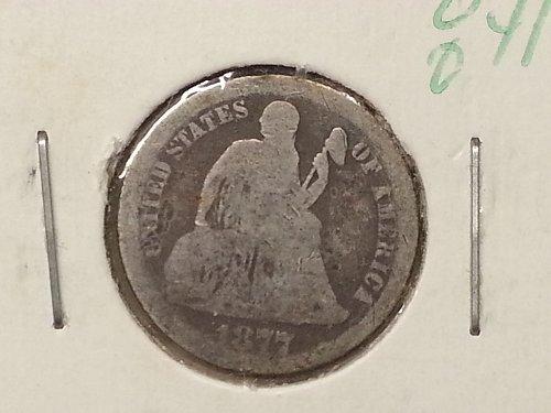 1877-CC Seated Liberty Dime