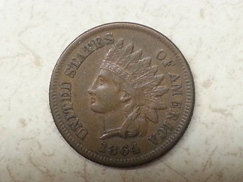 1864-L Indian Head Cent
