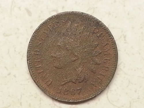 1867 Indian Head Cent