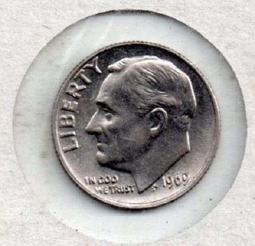 1969p Roosevelt Dime - S1