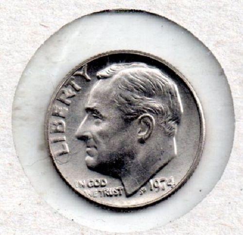 1974p Roosevelt Dime - #S1