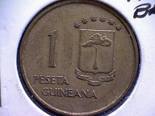 1969 (67) EQUATORIAL GUINEA ONE PESETA