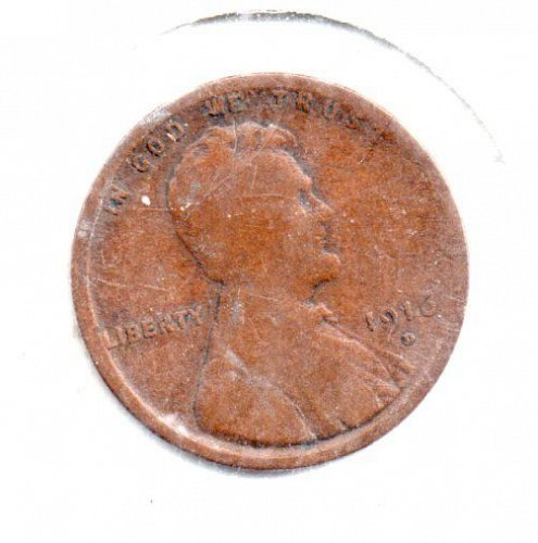 1916d Lincoln Wheat Pennie - #S1