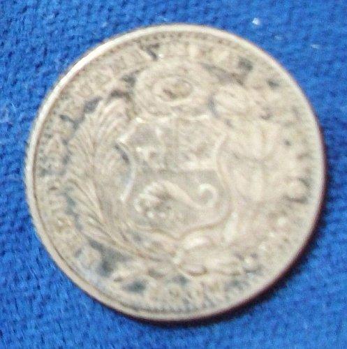1906 Peru Dinero VF+