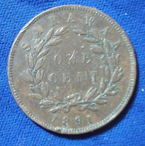 1891 Sarawak Cent VF