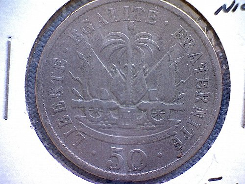 1907W  HAITI  FIFTY CENTIMES
