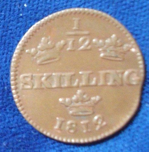 1812 Sweden 1/12 Skilling VF