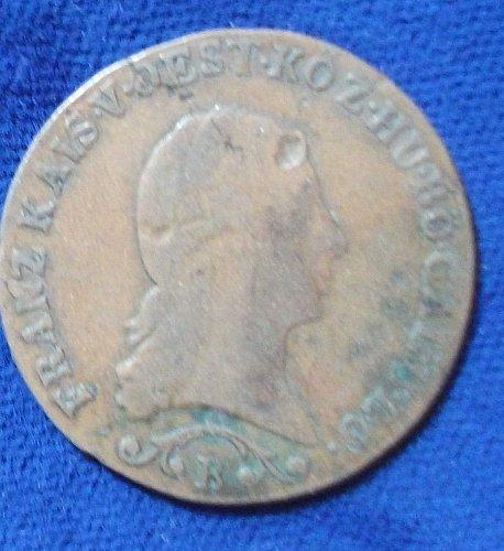 1812B Austria Kreuzer VG