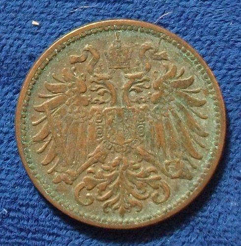 1901 Austria 2 Heller VF