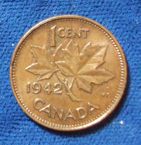 1942 Canada Cent UNC
