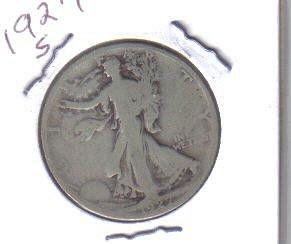 1927 S   WALKER HALF DOLLAR