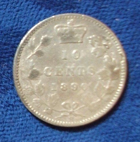 1890H Canada 10 Cents VG Details
