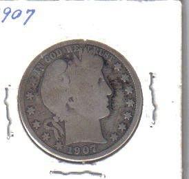 1907 P  BARBER HALF DOLLAR