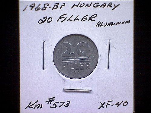 1968-BP  HUNGARY  TWENTY FILLER