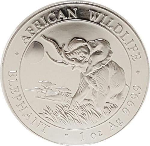 2016 1 oz Somalian Silver Elephant Coin (BU)