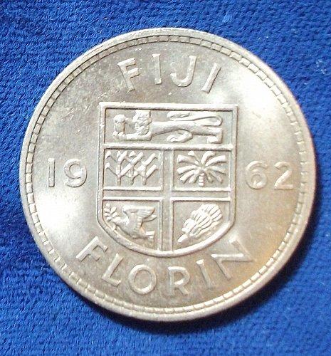 1962 Fiji Florin UNC