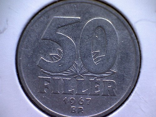 1967-BP  HUNGARY  FIFTY FILLER