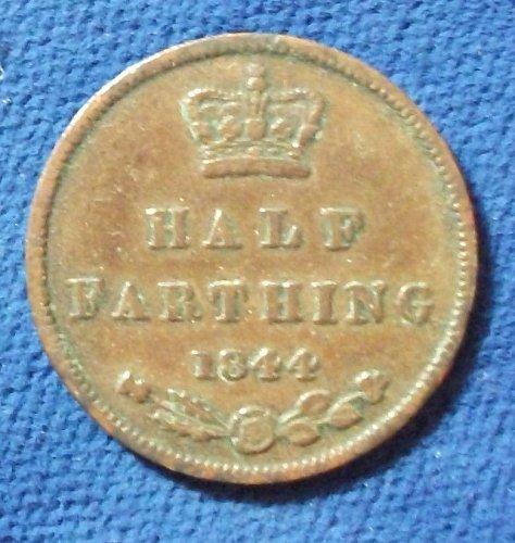 1844 Great Britain 1/2 Farthing VF