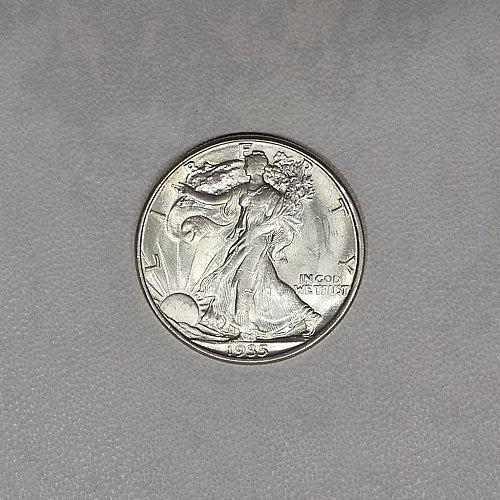 1935-D choice BU Walking liberty half dollar