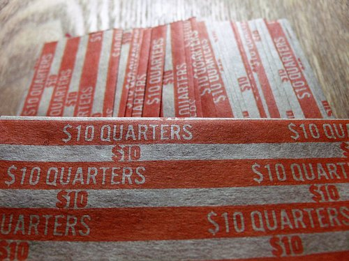 25 Quarter Coin Wrappers