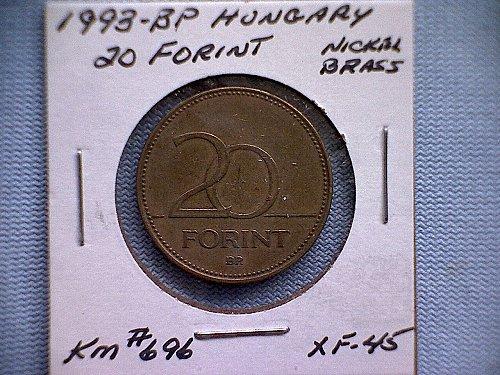 1993-BP  HUNGARY  TWENTY FORINT