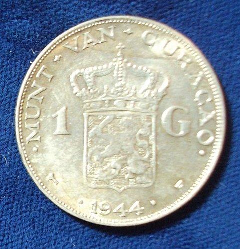 1944D Curacao Gulden XF