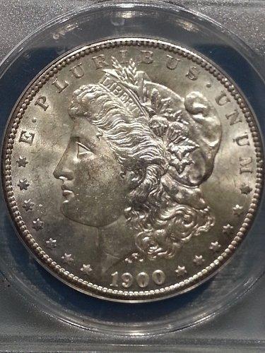 1900-S Morgan Dollar ANACS AU-58