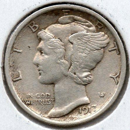 1917 P Mercury Dime FSB