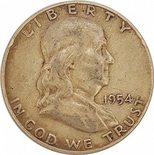 1954 Franklin Half Silver Dollar