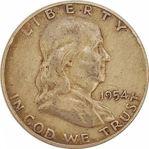 1954 Franklin Half Silver Dollar