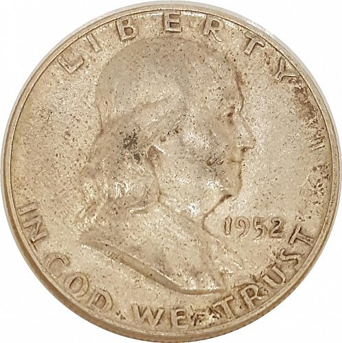 1952 Franklin Half Silver Dollar