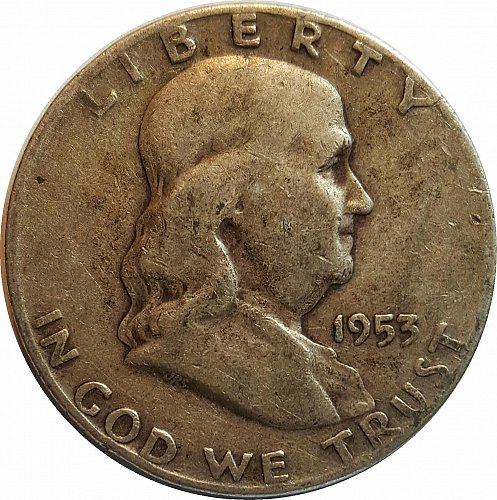 1953-D Franklin Half Silver Dollar