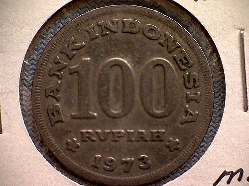 1973 INDONESIA ONE HUNDRED RUPIAHS