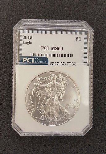 2015 1oz American Silver Eagle MS69 | Beautiful MS69 Excellent Graded Coin