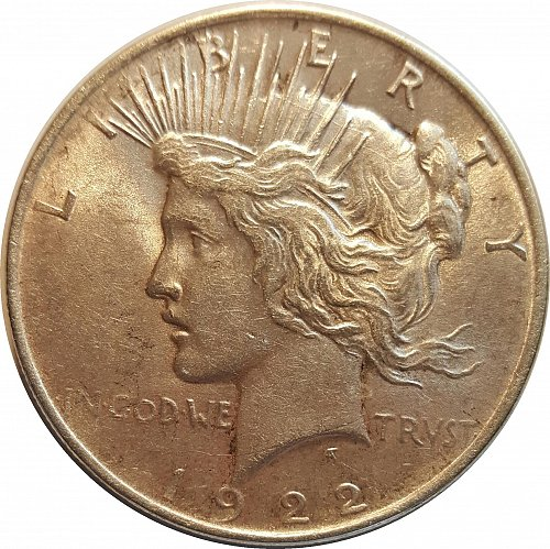 1922 P Peace Dollars : Normal Relief   Early Silver Dollars