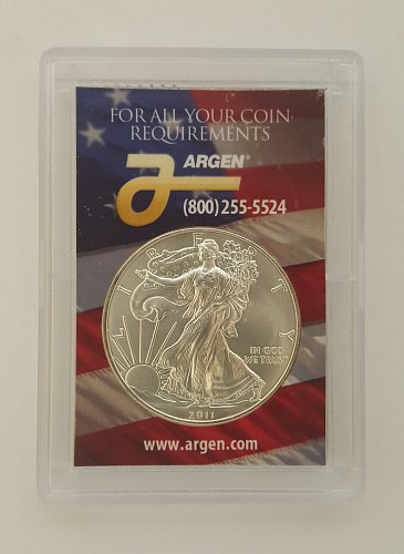 2011 W Silver American Eagle Bullion Coins : Bullion (No Mint Mark) 1 Troy Oz