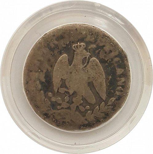 1864-M Mexico Imperial Maximilian 10 Centavos Coin  w/Capsule