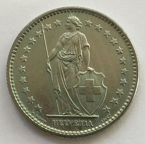 SWITZERLAND 1973 2 FRANCS