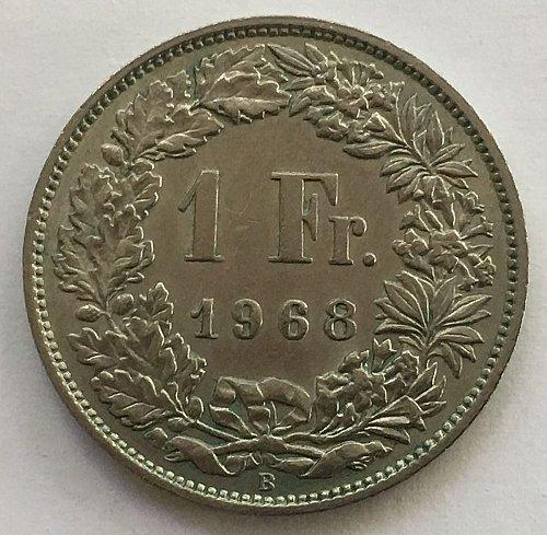 SWITZERLAND 1968 B  1 FRANC