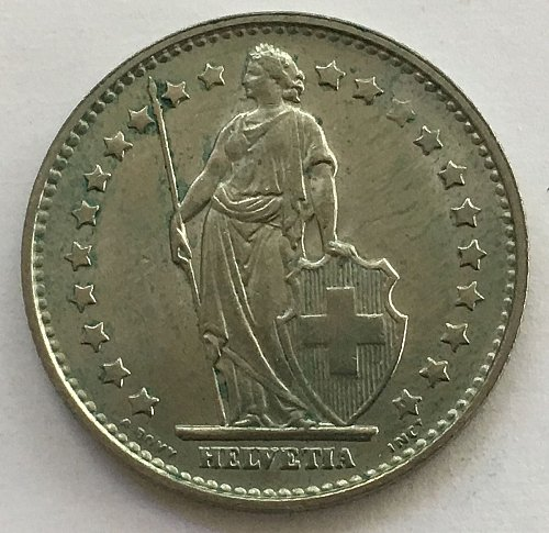 SWITZERLAND 1969 B  1 FRANC