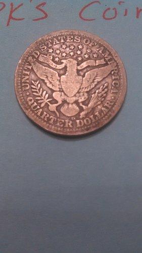 1908 D Barber quarter (listing 7)
