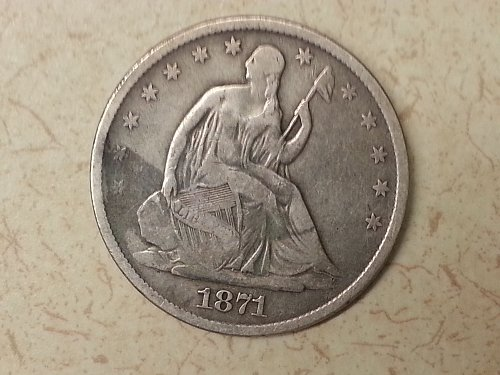 1871-S Seated Liberty Half