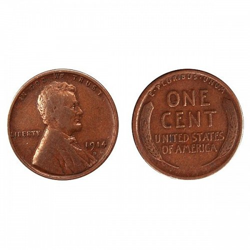 1914 D Lincoln Wheat Cent - FIne