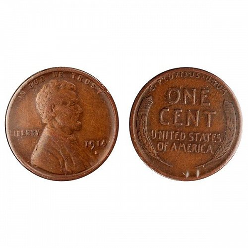 1914 S Lincoln Wheat Cent - VF