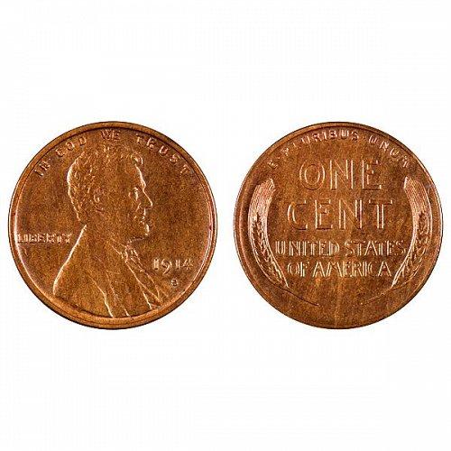 1914 S Lincoln Wheat Cent - Gem BU