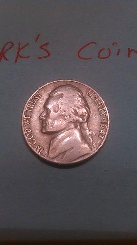 1947 P Jefferson Nickel (listing 19)
